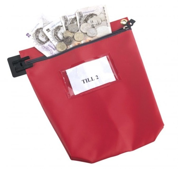 Red-Secure-Cash-Bag