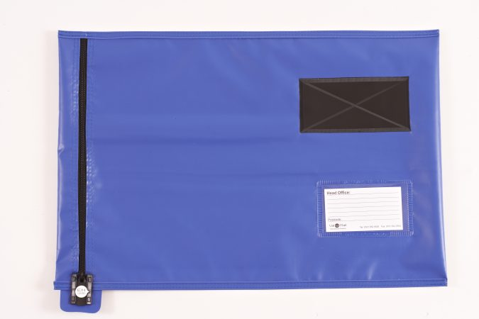 Blue-Flat-Document-Mail-Pouch, Flat Mail Pouches
