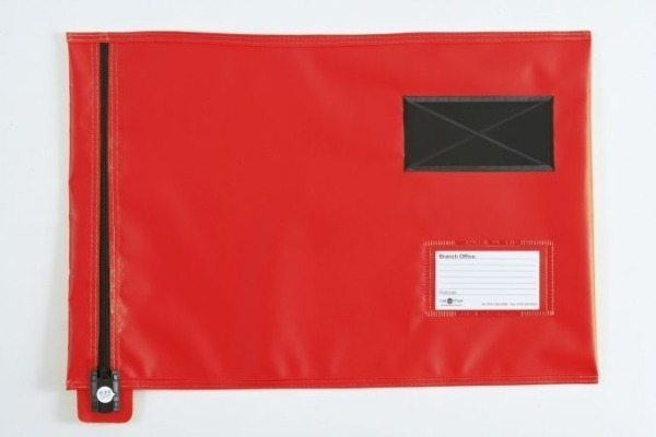 Red-Flat-Document-Mail-Pouch